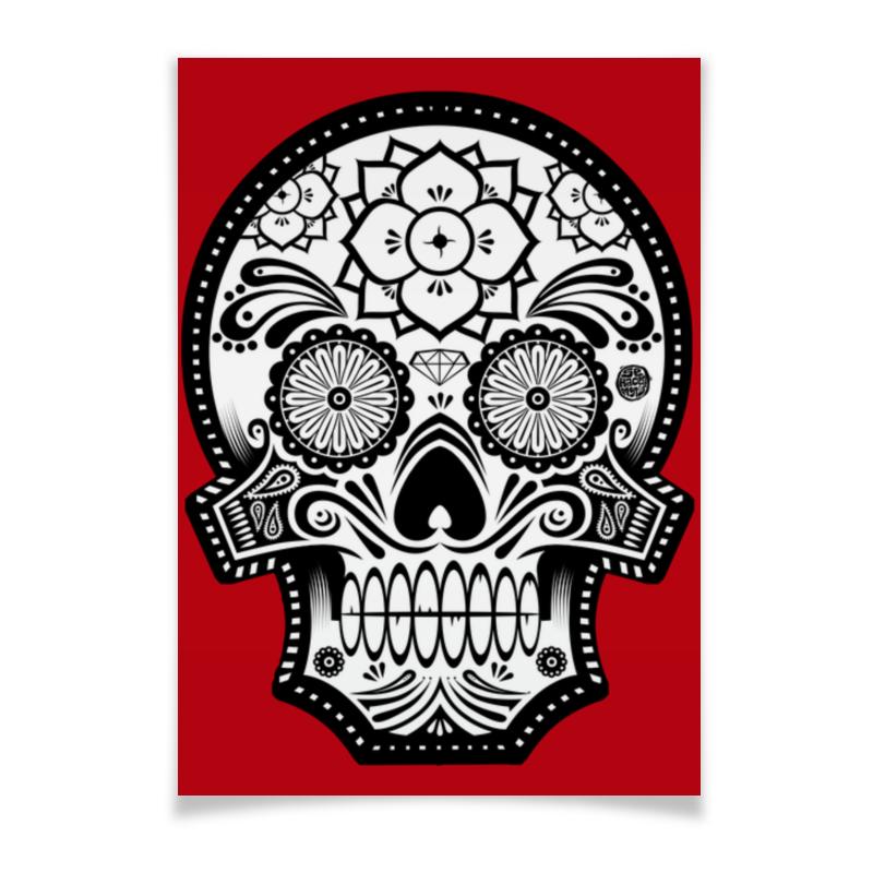 Плакат A3(29.7x42) Printio Santa muerte skull