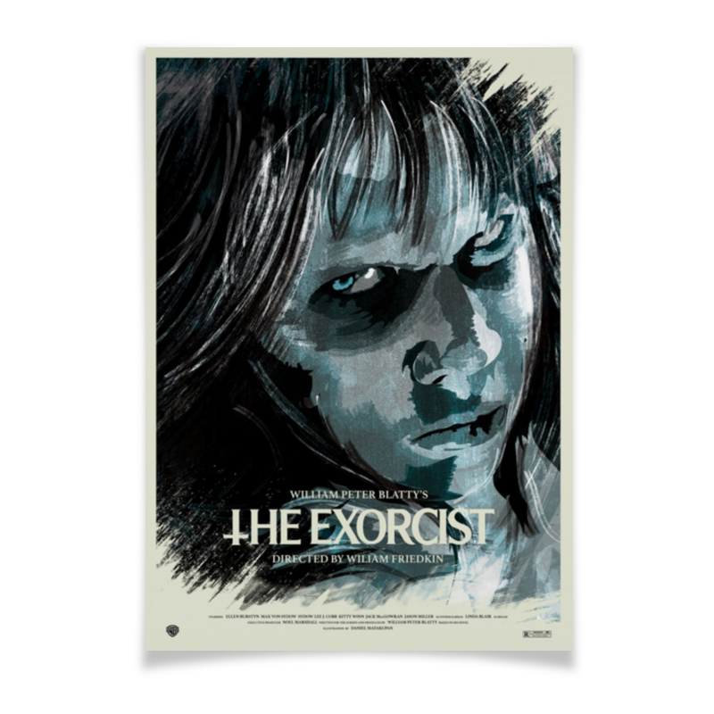 Плакат A3(29.7x42) Printio Изгоняющий дьявола / the exorcist romeo rossi паста яичная 4 яйца ригатони трехцветная 500 г