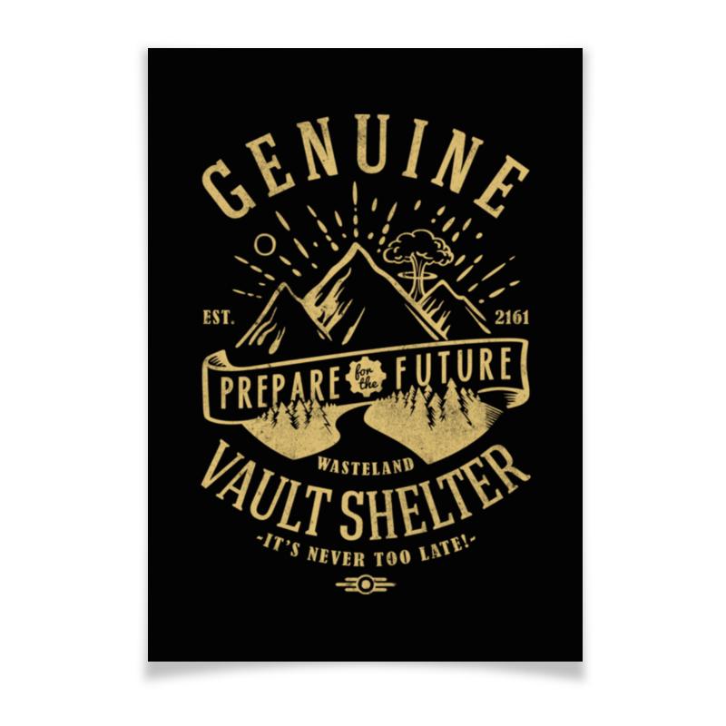Плакат A3(29.7x42) Printio Fallout. vault shelter