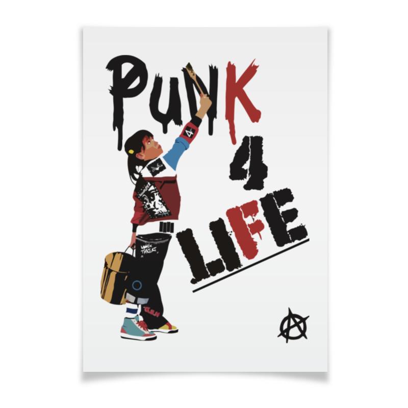 Плакат A3(29.7x42) Printio Punk 4 life плакат a3 29 7x42 printio i work hard page 4