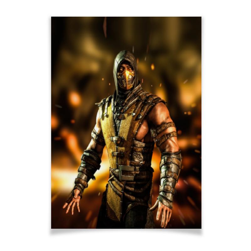 Плакат A3(29.7x42) Printio Mortal kombat (scorpion) плакат a3 29 7x42 printio алкоголь