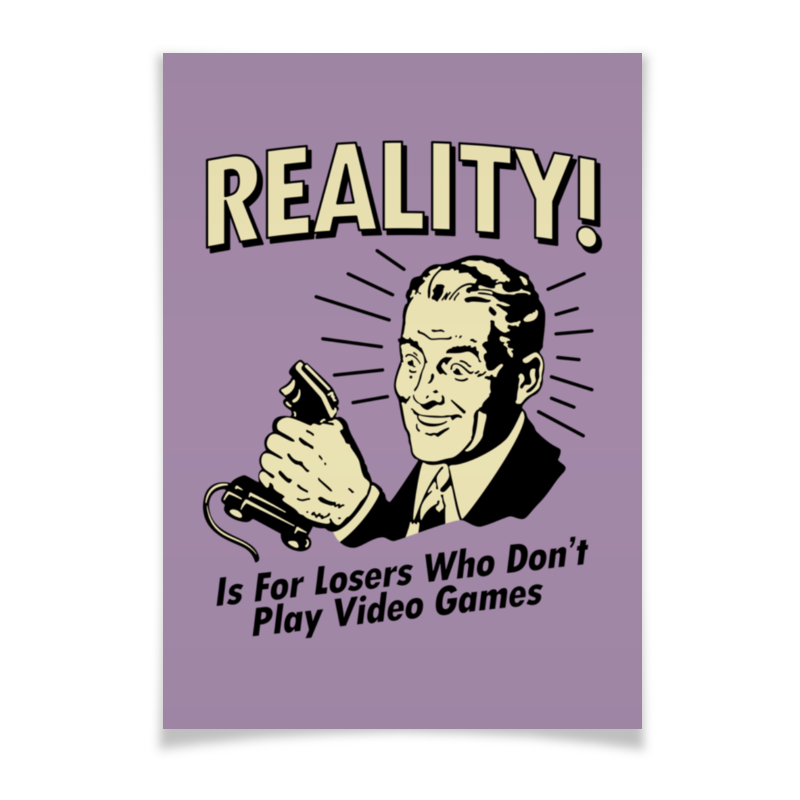 Плакат A3(29.7x42) Printio Геймер кружка printio геймер