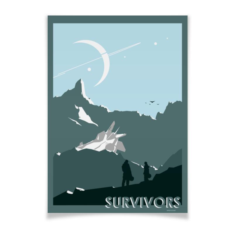 Плакат A3(29.7x42) Printio Survivors/выжившие райса каримбаева выжившие рассказы