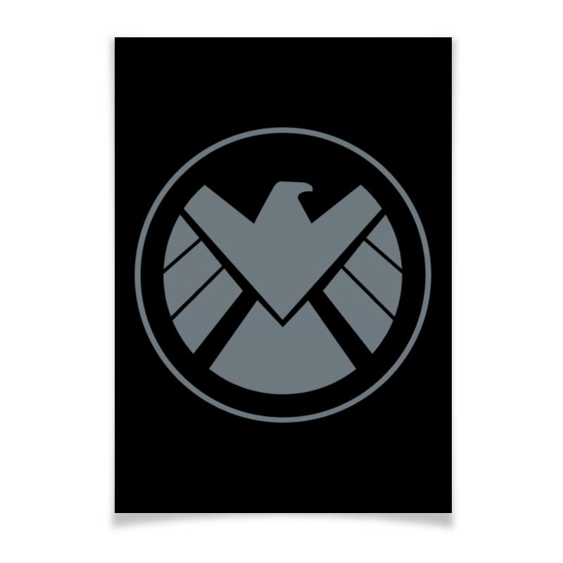 Плакат A3(29.7x42) Printio Avengers shield / мстители щит микрофон sony ecm xyst1m