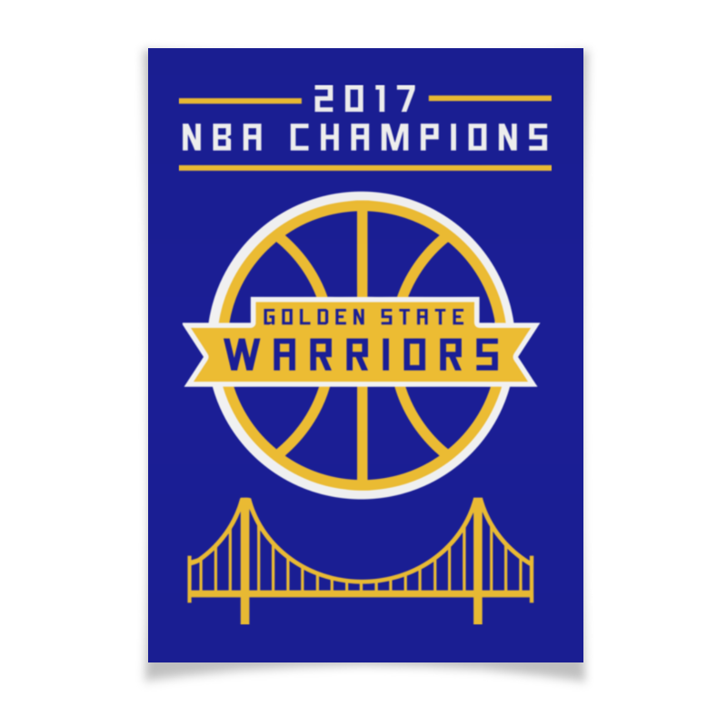 Плакат A3(29.7x42) Printio Golden state champions saucer state
