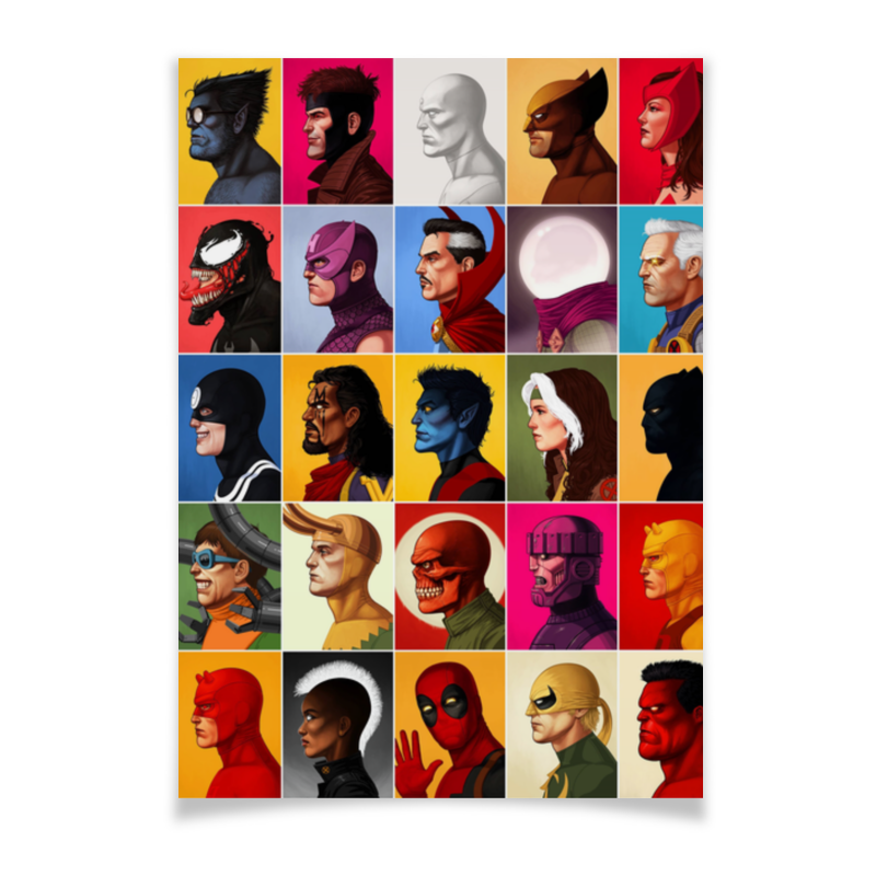 Плакат A3(29.7x42) Printio Marvel heroes vol.1 marvel comics silk vol 1