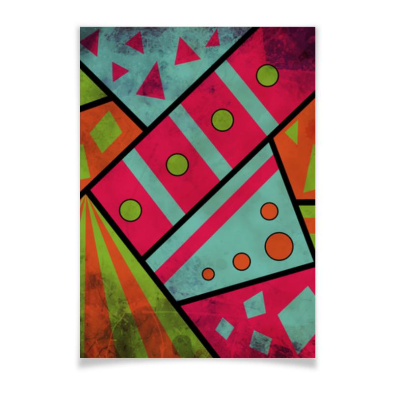 Плакат A3(29.7x42) Printio Яркая геометрия плакат a3 29 7x42 printio яркий красивый модный гелакси дизайн паттерн