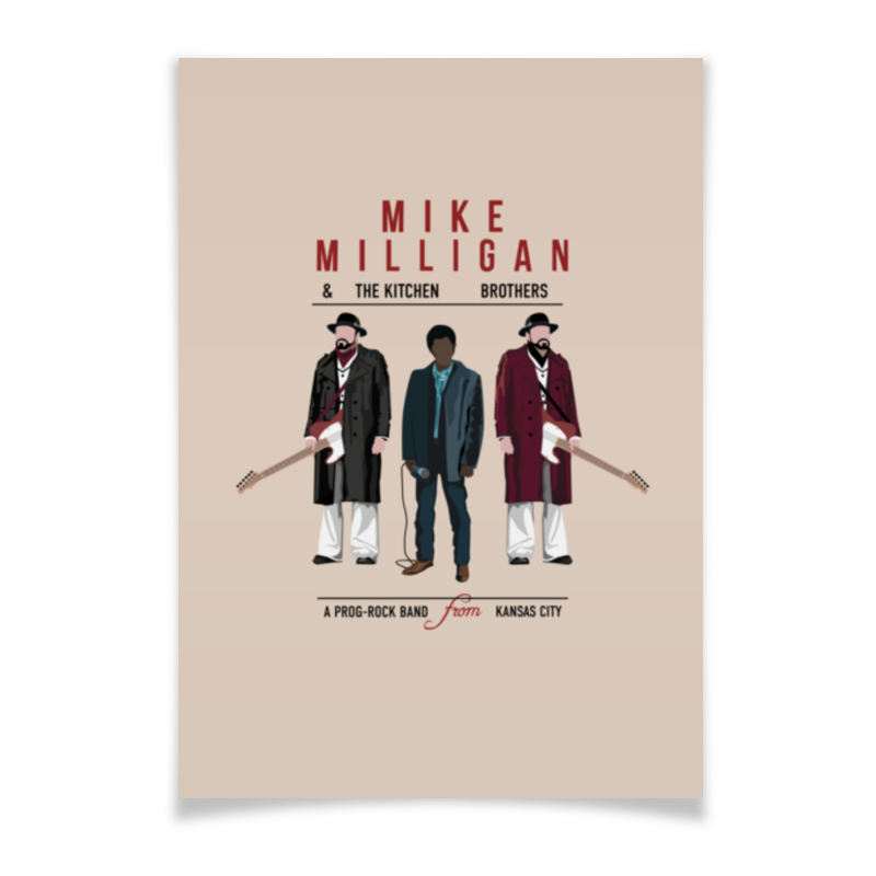 Плакат A3(29.7x42) Printio Fargo - mike milligan remembering spike milligan