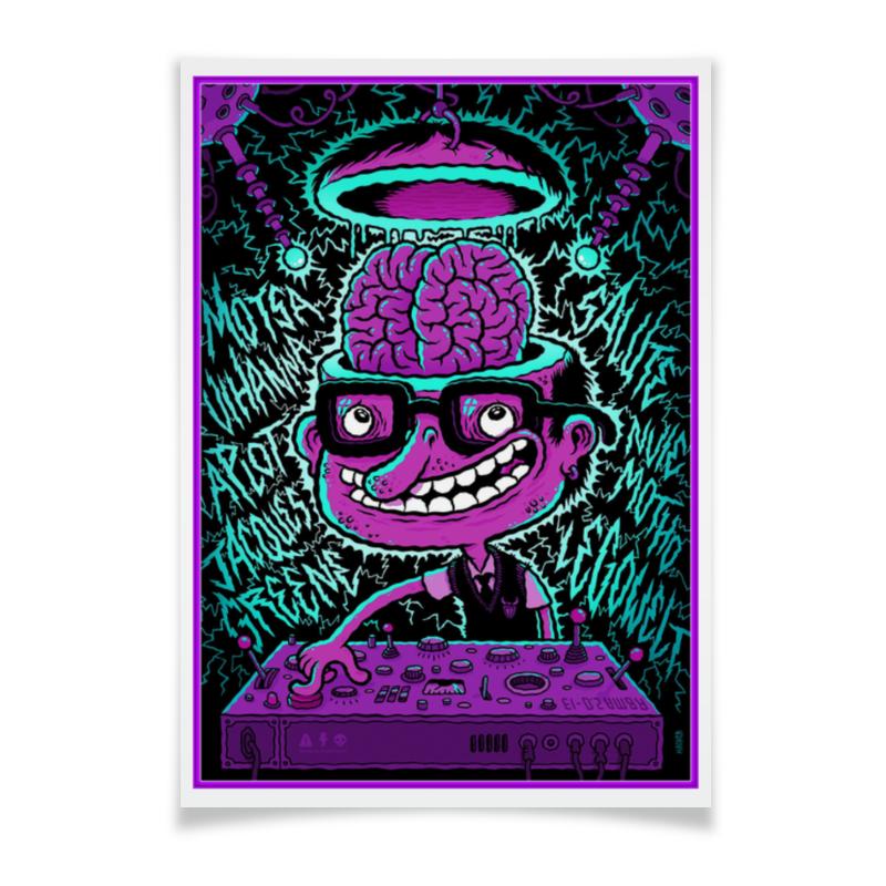 Плакат A3(29.7x42) Printio Crazy dj