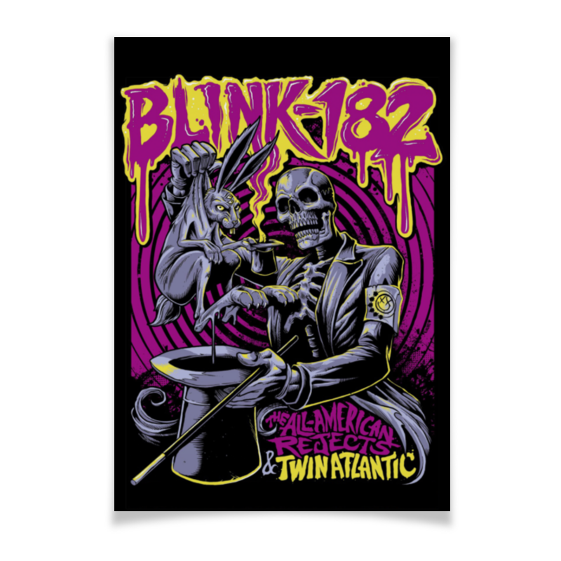 цена на Плакат A3(29.7x42) Printio Blink-182 band