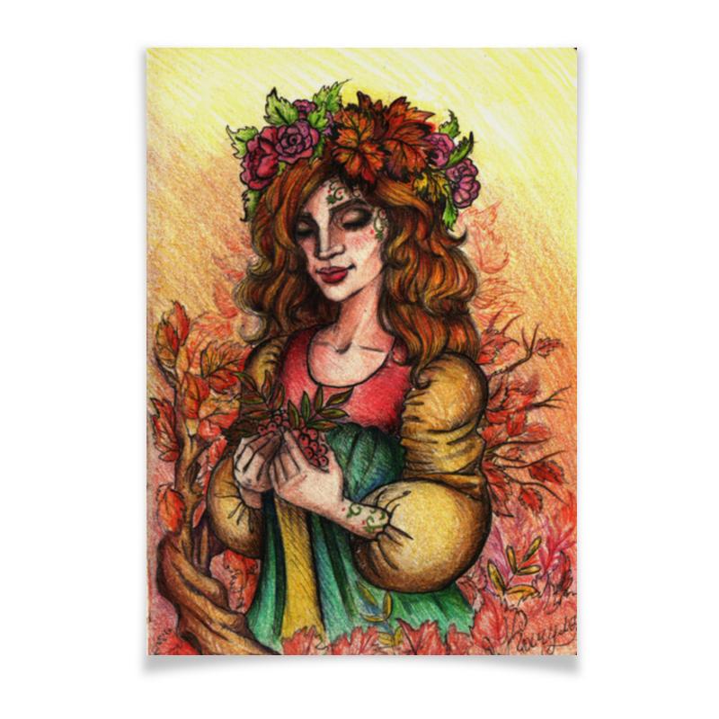 Плакат A3(29.7x42) Printio Богиня осени гений и богиня