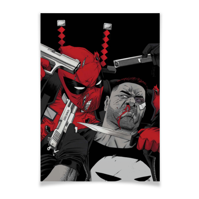 Плакат A3(29.7x42) Printio Deadpool vs punisher плакат a3 29 7x42 printio deadpool vs punisher