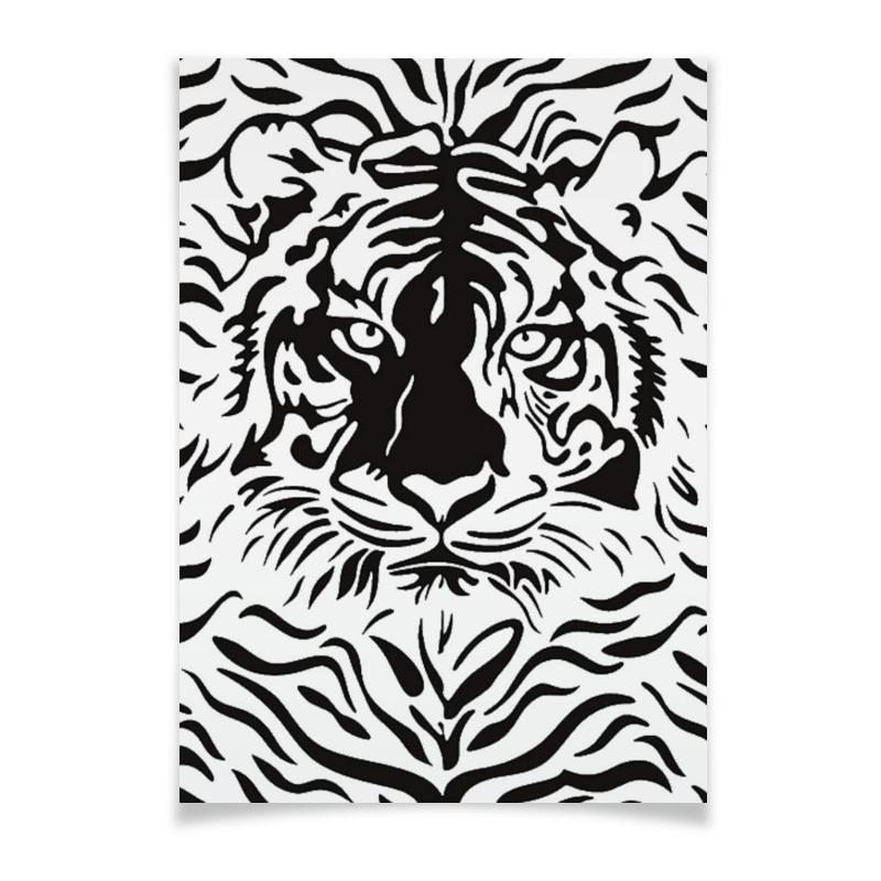 Плакат A3(29.7x42) Printio Взгляд тигра хоук к в поисках тигра