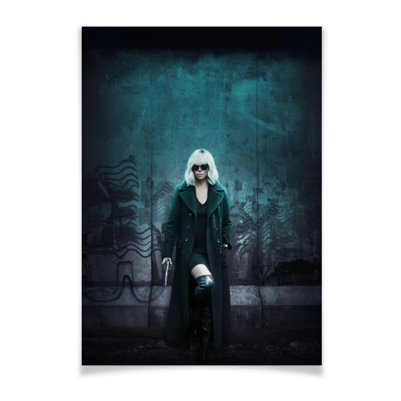 Плакат A3(29.7x42) Printio Взрывная блондинка блондинка двойное плечо