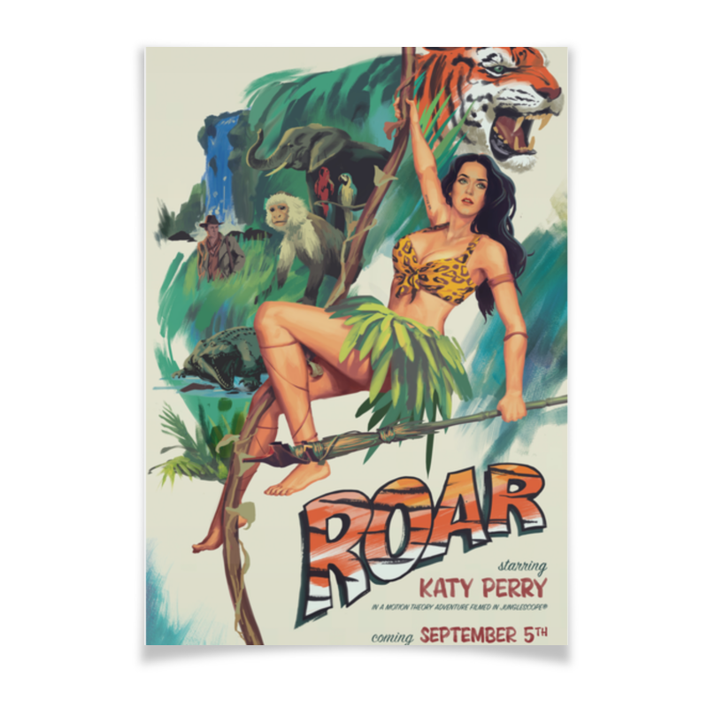 Плакат A3(29.7x42) Printio Katy perry - roar katy perry auckland
