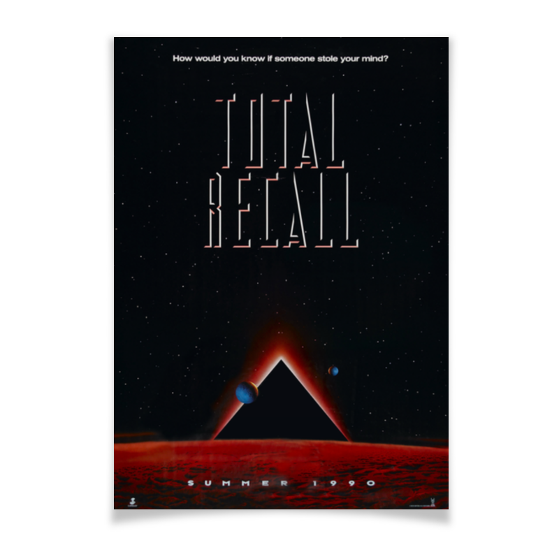 Плакат A3(29.7x42) Printio Вспомнить всё / total recall total 12pcs filters