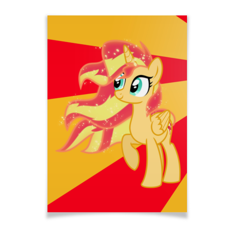 Плакат A3(29.7x42) Printio Sunset shimmer color line холст 30x30 printio sunset shimmer color line