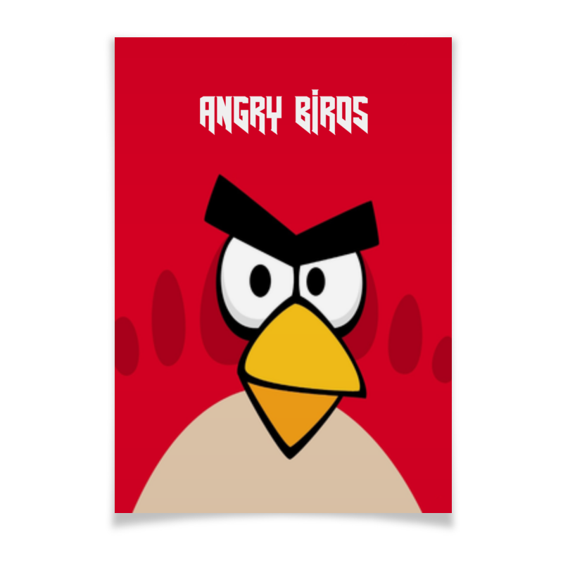 Плакат A3(29.7x42) Printio Angry birds (terence) domestic birds домашние птицы плакат isbn 978 5 4315 0955 1