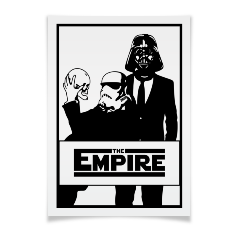 Плакат A3(29.7x42) Printio The empire. звёздные войны the cat empire canberra