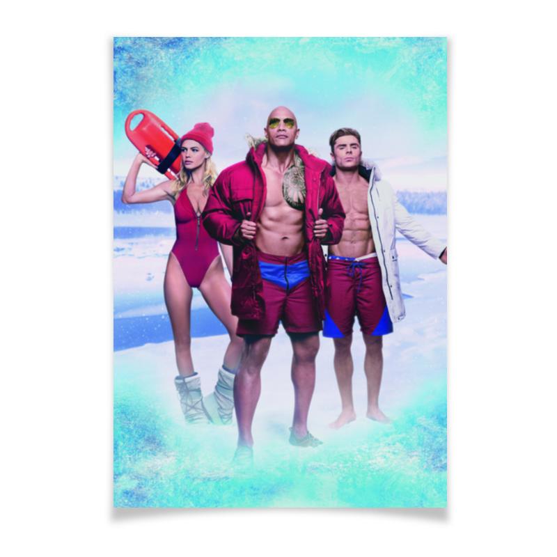 Плакат A3(29.7x42) Printio Спасатели малибу uludag минеральная вода газированная 0 2 л