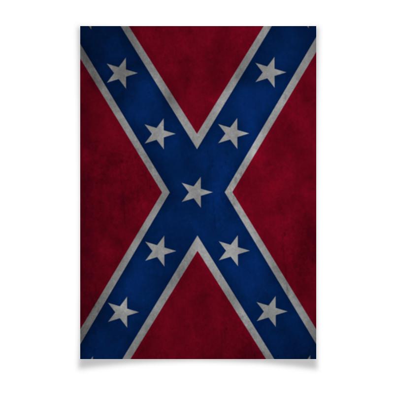 Плакат A3(29.7x42) Printio Флаг конфедерации сша кепка printio флаг конфедерации сша