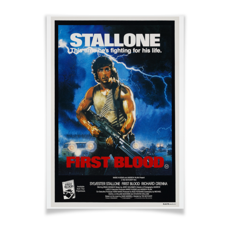Плакат A3(29.7x42) Printio Rambo - first blood плакат a3 29 7x42 printio fire and blood