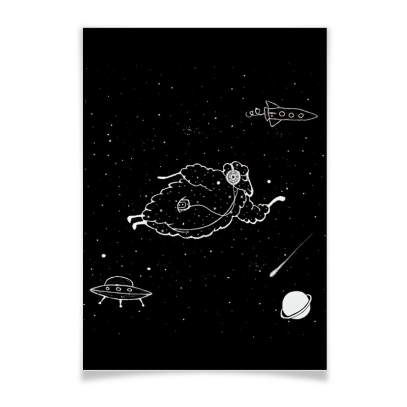 Printio Starlamb плакат a3 29 7x42 printio terminator