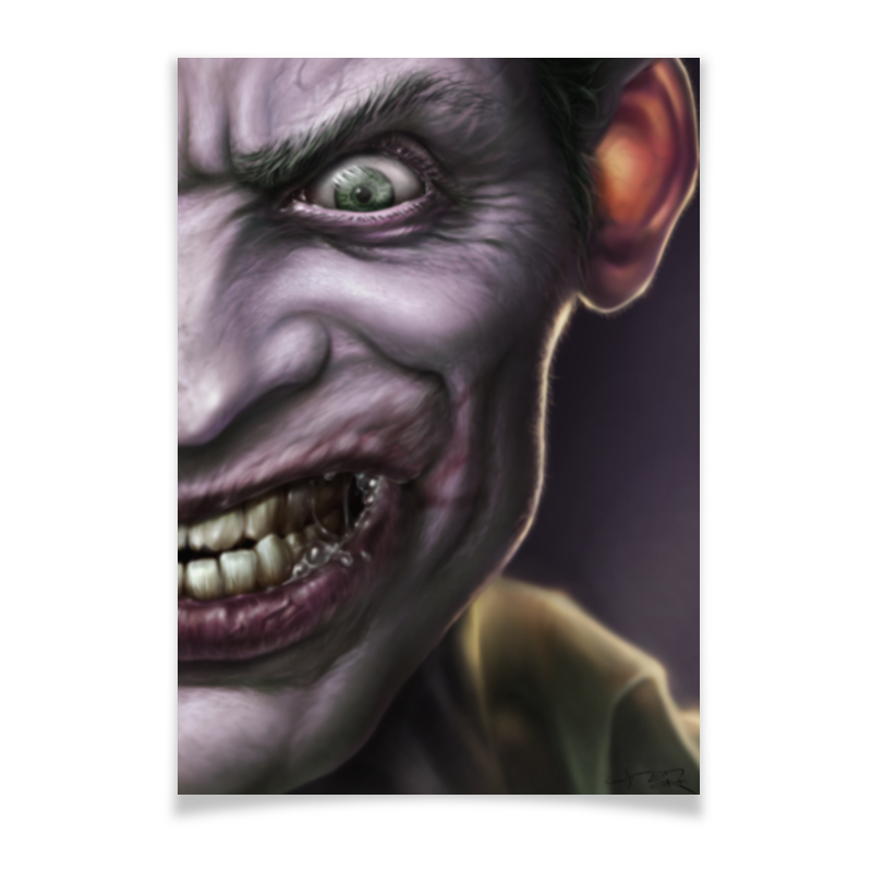 Плакат A3(29.7x42) Printio Joker by usman art