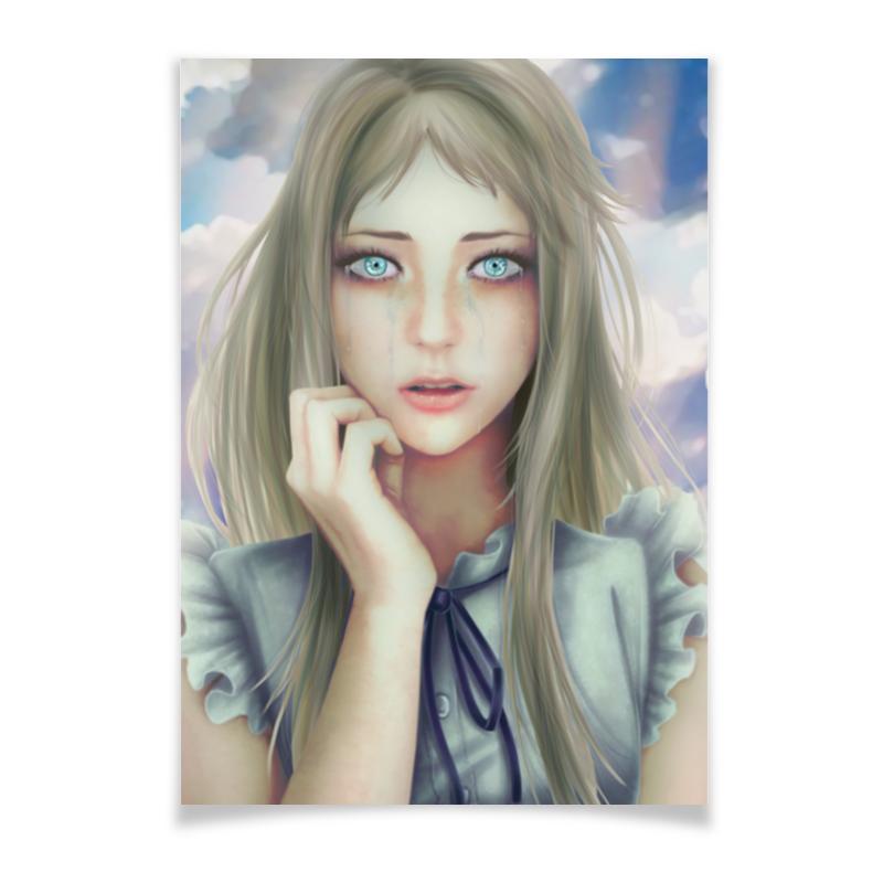 Плакат A3(29.7x42) Printio Crying girl жидкость сливки cover girl covergirl 3in1 810 30ml