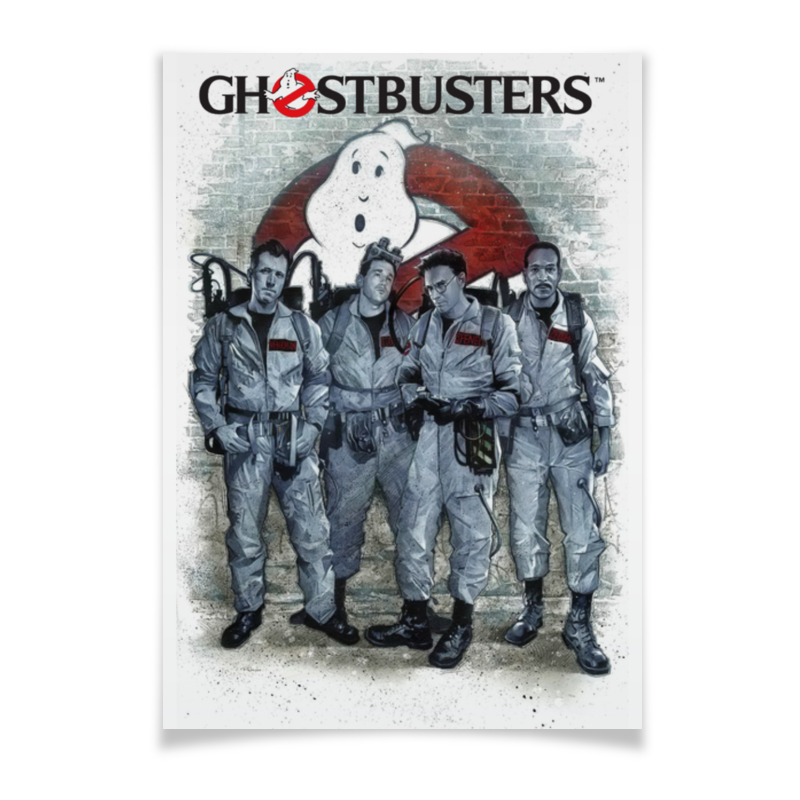 Плакат A3(29.7x42) Printio Ghost busters halloween costumes scary centipede ghost mask skeleton patterned coat set black white red
