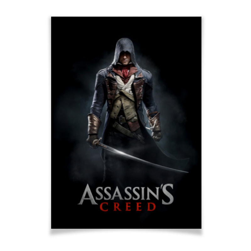Плакат A3(29.7x42) Printio Assassins creed (unity arno)