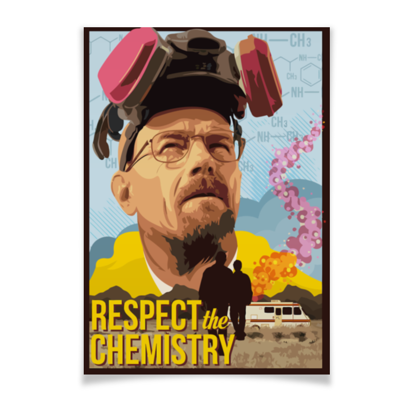 Плакат A3(29.7x42) Printio Respect the chemistry antimicrobial chemistry