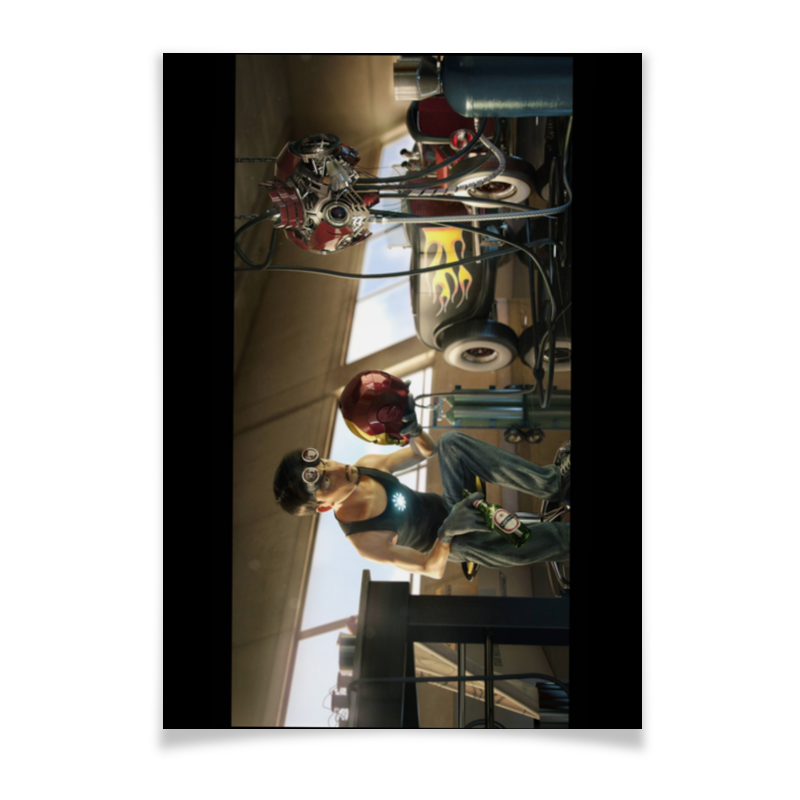 Плакат A3(29.7x42) Printio Ironman / железный человек плакат a3 29 7x42 printio человек паук