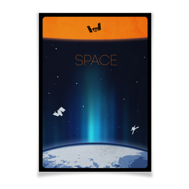 Плакат A3(29.7x42) Printio Space плакат a3 29 7x42 printio my space
