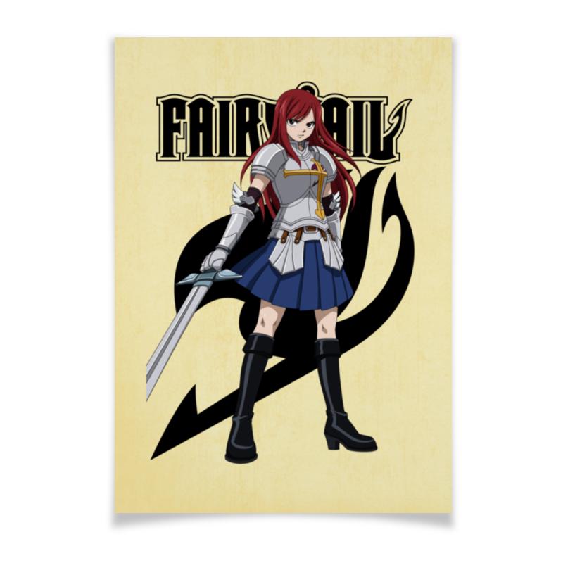 Плакат A3(29.7x42) Printio Эрза скарлет. fairy tail roswheel 13613 bicycle tail bag fully waterproof