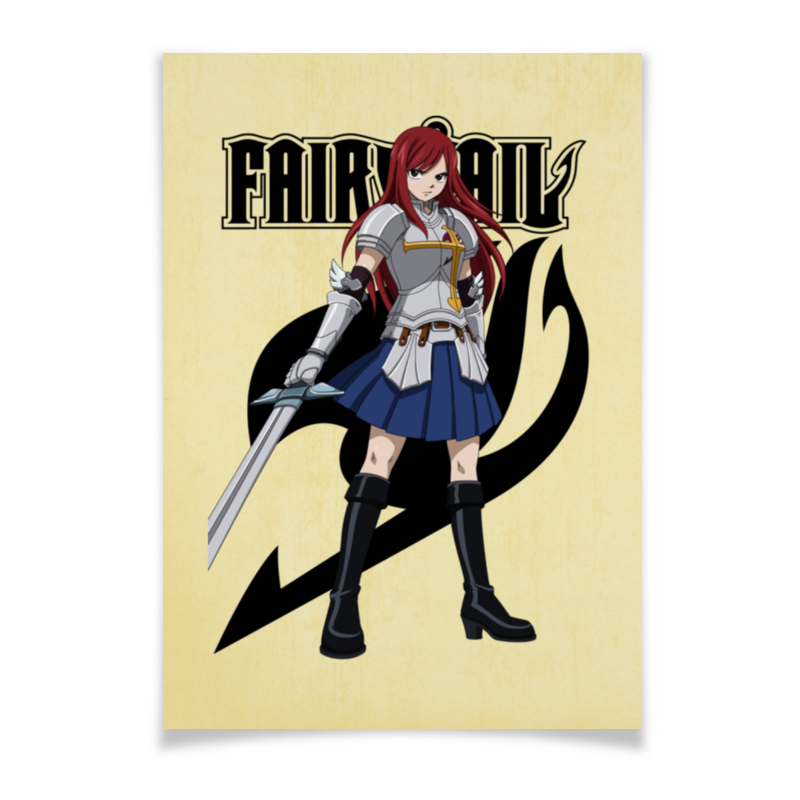 Плакат A3(29.7x42) Printio Эрза скарлет. fairy tail тетрадь на пружине printio эрза скарлет fairy tail