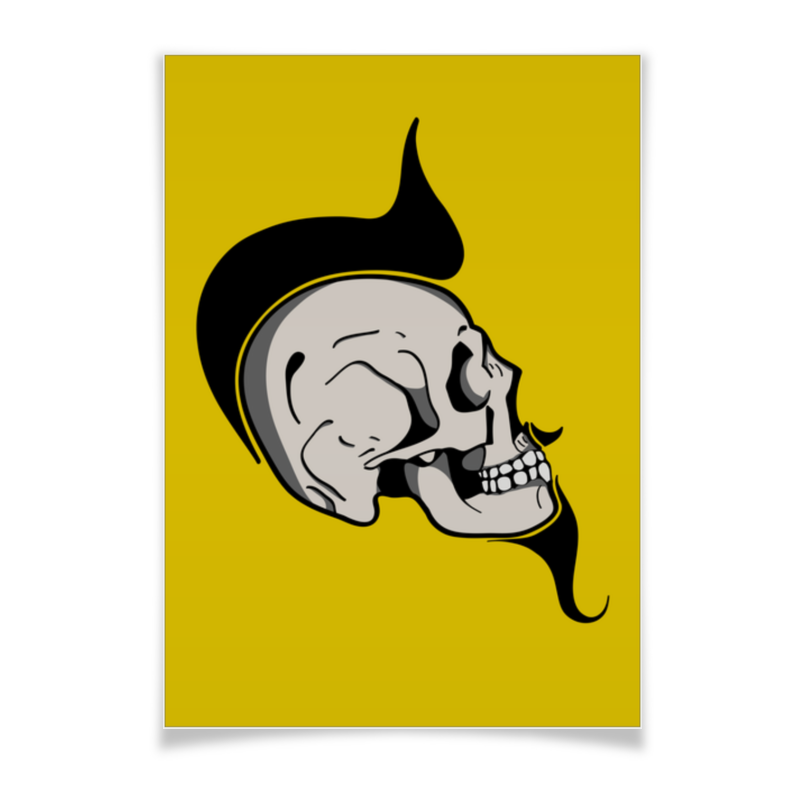Printio Skullposter alcatel one touch 1035d chocolate