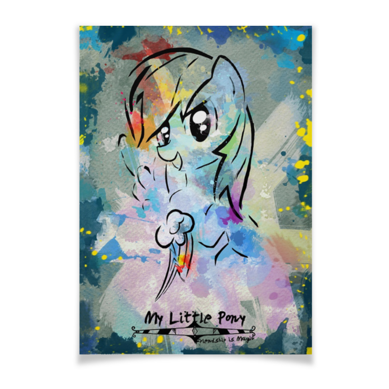 все цены на Плакат A3(29.7x42) Printio My little pony rainbow dash poster