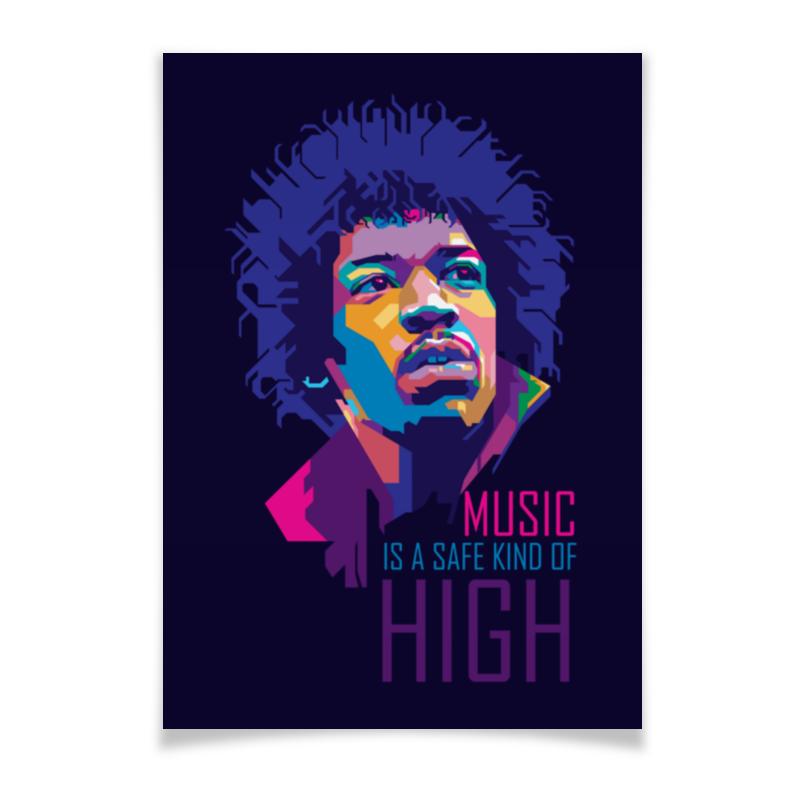 Плакат A3(29.7x42) Printio Джими хендрикс