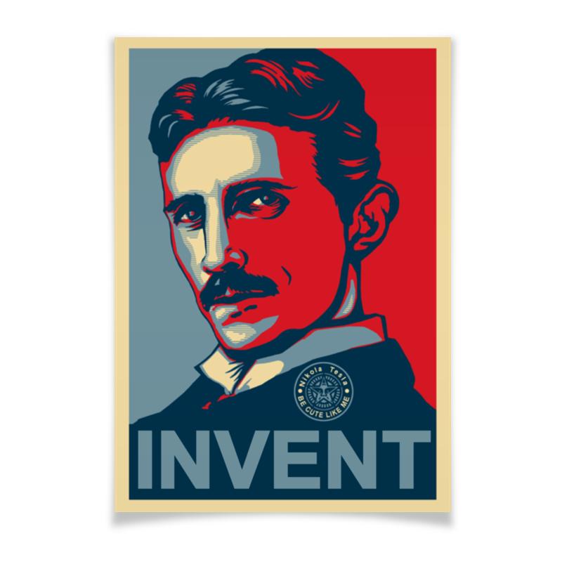 Плакат A3(29.7x42) Printio Изобретатель никола тесла свитшот мужской с полной запечаткой printio никола тесла изобретатель гений