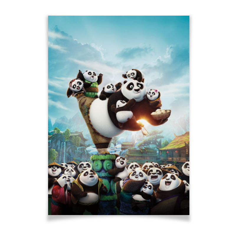 Плакат A3(29.7x42) Printio Кунг-фу панда дригс скот кунг фу панда неистовая пятерка