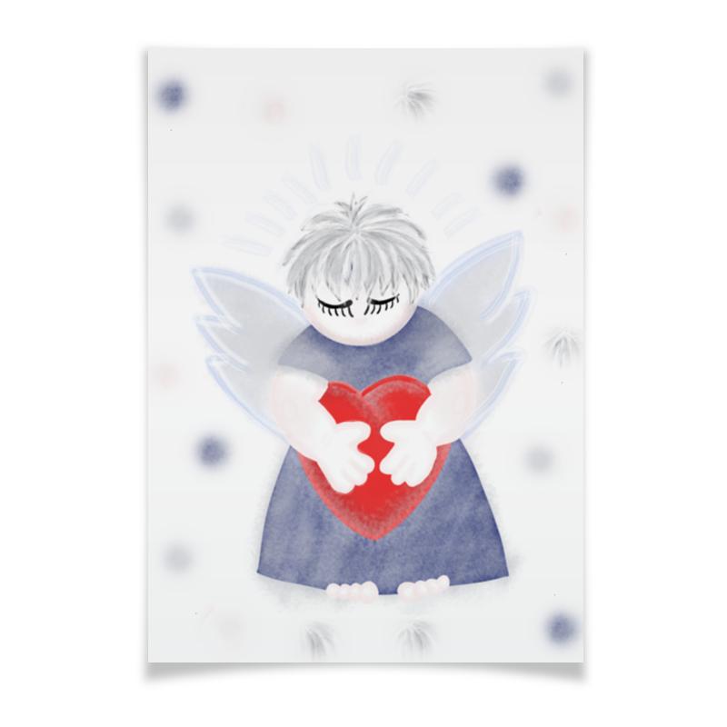 Плакат A3(29.7x42) Printio Маленький сердечный ангел
