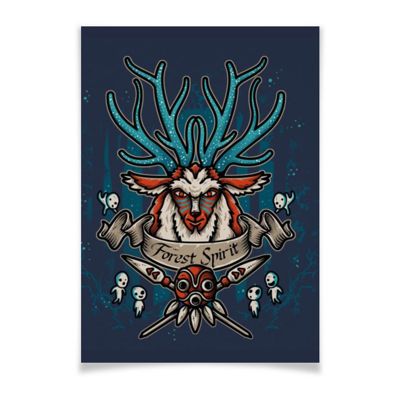 Плакат A3(29.7x42) Printio Forest spirit. лесной дух сироп monin лесной орех стекло 50 мл