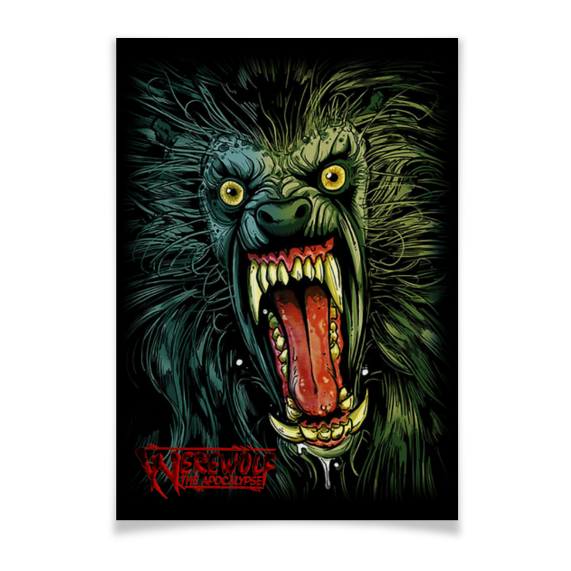 Плакат A3(29.7x42) Printio Оборотень/werewolf свитшот print bar оборотень