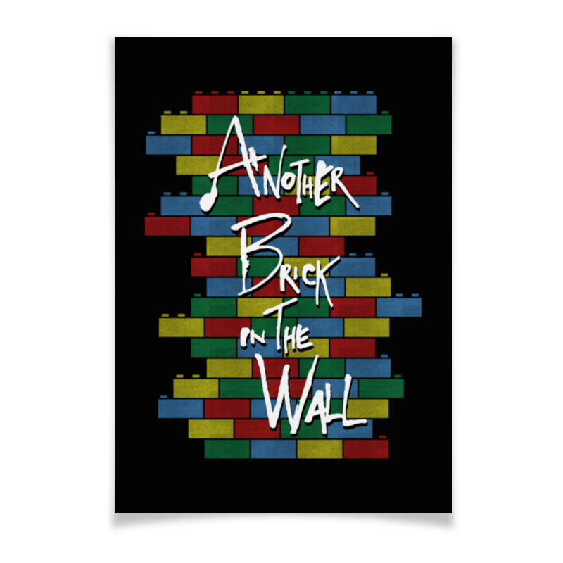Плакат A3(29.7x42) Printio Another brick in the wall wall hanging art decor brick wall print tapestry