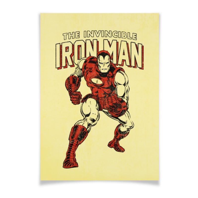 Плакат A3(29.7x42) Printio Железный человек плакат a3 29 7x42 printio человек паук