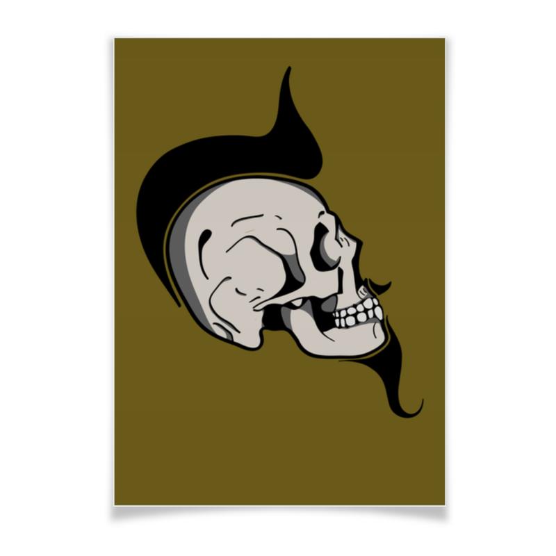 Плакат A3(29.7x42) Printio Skullposter granmulino перья 54 450 г