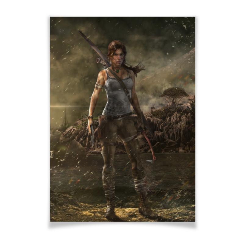 Плакат A3(29.7x42) Printio Tomb raider обложка для паспорта printio лара крофт tomb raider