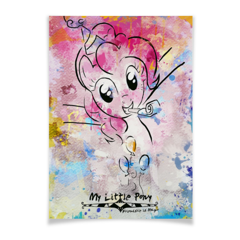Плакат A3(29.7x42) Printio My little pony pinkie pie poster плакат a3 29 7x42 printio my space