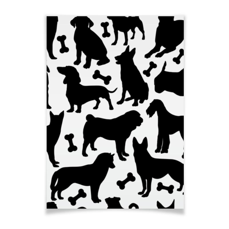 Плакат A3(29.7x42) Printio Собаки волшебница восхищение шоколад темный трюфельный 140 г